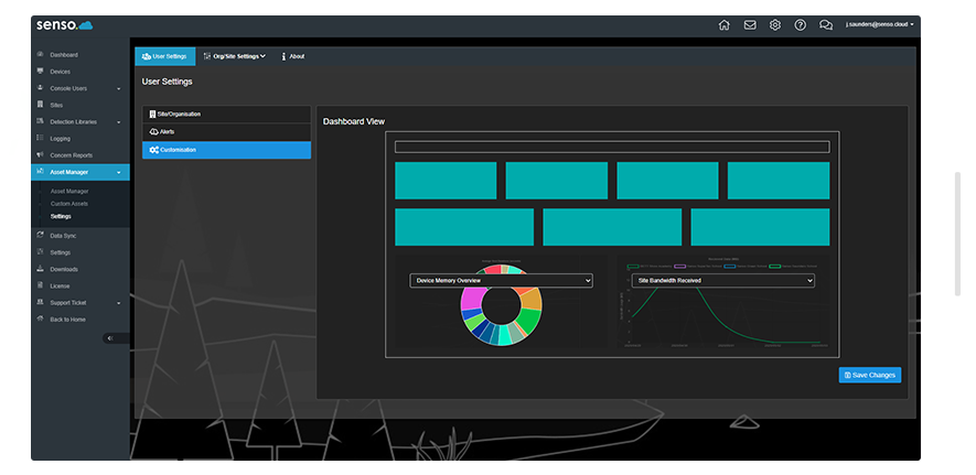 Device overview dashboard